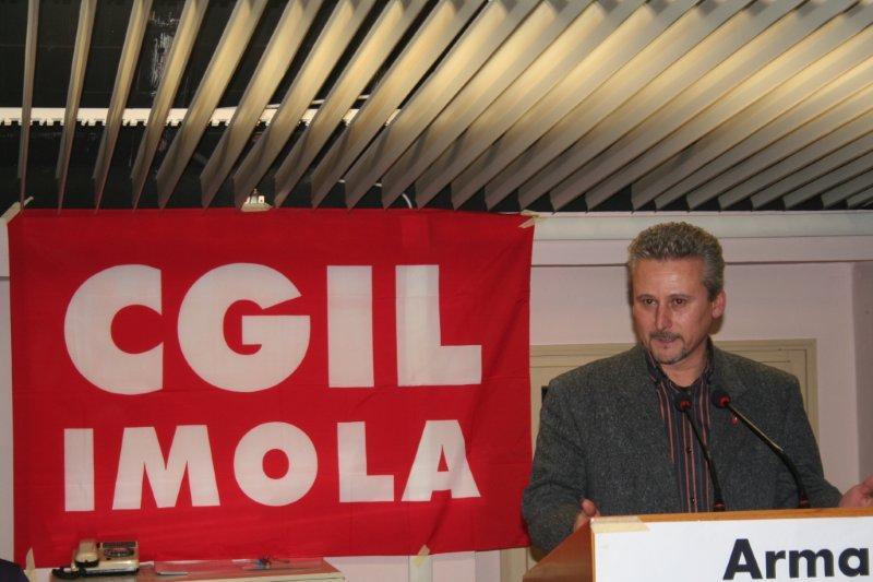 Il Segretario generale  della Cgil di Imola, Paolo Stefani
