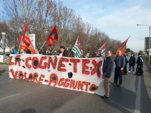 La manifestazione dei lavoratori dell'ex Cognetex - 23 gennaio 2014
