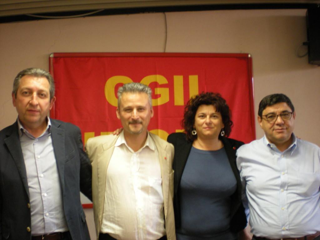 da sinistra: Pietro Bellucci, Paolo Stefani, Mirella Collina, Domenico Giagnacovo